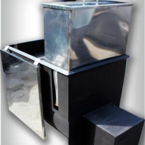 Печь банная Железный Очаг 30К с горловиной